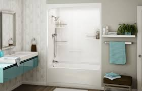 Whirlpool Bath Shower Combination Built In Bathtub Shower Combination Rectangular Acrylic