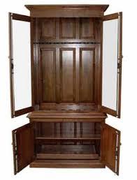 Wood Gun Cabinet Best Wood Gun Cabinet Oak Cherry And More Strong Gun Safes