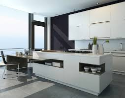 modern kitchen island kitchen modern white kitchen island with attached dining area