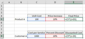 percentage calculator excel applying a percent increase or decrease to values in excel dummies