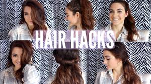 lazy hair hacks hairstyles youtube