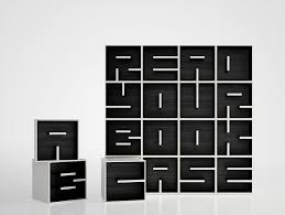 Unique Bookshelf Bookcases Unique Bookshelf Square Design Black And White Color