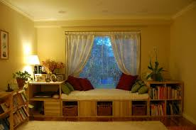 Decorate Bedroom Bay Window Innovative Small Space Bay Window Seat Decoration With Drawers And