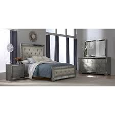 signature bedroom furniture angelina 6 piece king upholstered bedroom set metallic king