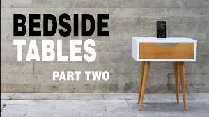 making modern furniture make modern table night stand how to part 2 3 youtube