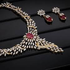 designer diamond sets diamond floral model necklace designs