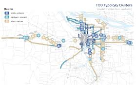 Map Of Portland Airport by Using The Typology To Define Tod Program Investments Ctod Portal