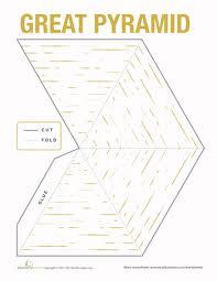 egyptian pyramid model pyramid model egyptian and 5th grade