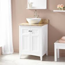 Vessel Sink Cabinet Height Bathroom Base Cabinets New White Shaker Single Sink Bathroom