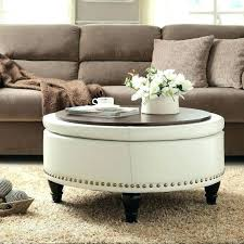 large padded coffee table large round storage ottoman coffee table passforsure me