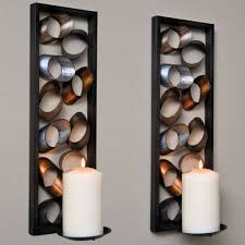 modern wall candle holders beautiful wall sconce for the