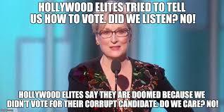Hollywood Meme - image tagged in meryl streep we are doomed imgflip