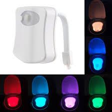 human motion sensor led night lights auto 8 color light control