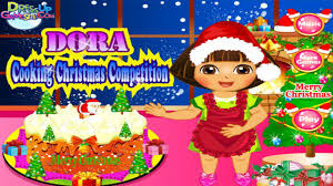 dora cooking christmas cake game cooking games dora games