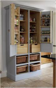 shelf unit with wicker baskets kitchen cabinets tall unit storage