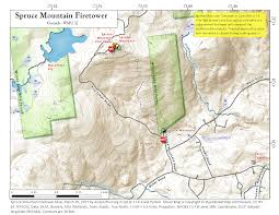 Saratoga Ny Map Spruce Mountain Fire Tower U2013 Andy Arthur Org