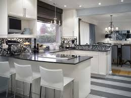 White Kitchen Island With Stools by Dining Room Candice Olson Kitchen Design With U Shaped Kitchen