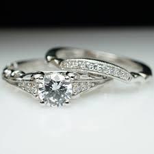 matching wedding bands ornate vintage style diamond engagement ring matching wedding