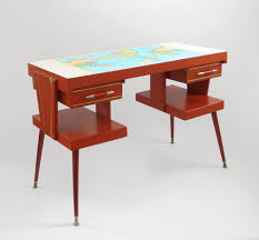 mad for mid century mid century desk with world map top