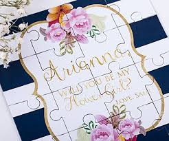 invitation to be a bridesmaid will you be my bridesmaid puzzle invitation