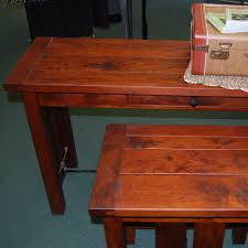 Amish End Tables by Jordan Plank Top End Table Shown In Rustic Cherry With A