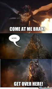 Godzilla Nope Meme - godzilla is pissed v2 by lmpkio on deviantart
