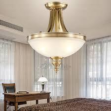 Interior Antique Ceiling Light Fixtures - vintage semi flush antique brass ceiling lights glass shade