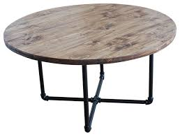 Industrial Accent Table Home Design Dazzling Industrial Round Table Home Design