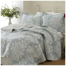 king size coverlets and quilts laura ashley home rowland 100 cotton reversible coverlet set by