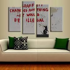 Aliexpress Home Decor Aliexpress Com Buy 4 Pcs Set Banksy Art Graffiti Changed