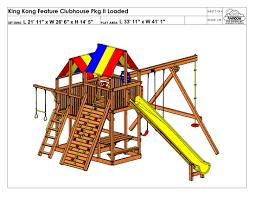 Rainbow Play Systems King Kong Feature Clubhouse Pkg Ii Loaded 87a