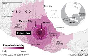 Mexico On A Map by Mexico Has A Second Major Earthquake U20267 1 U2026over A 100 Dead