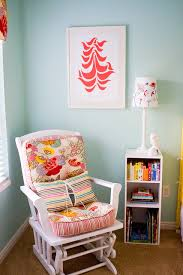 red and turquoise nursery vintage nursery apartment therapy