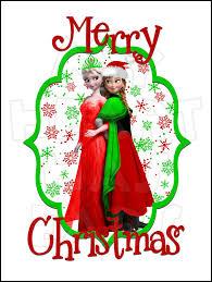 frozen anna u0026 elsa christmas instant download digital clip art