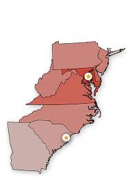 map of maryland delaware and new jersey sales territory
