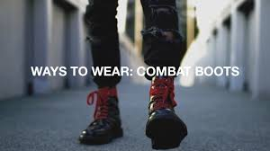 ways to wear combat boots youtube