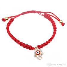 bracelet lucky you images 2018 hot selling red string handmade hamsa hand eye charm bracelet jpg