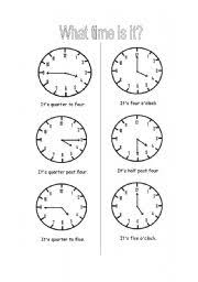english teaching worksheets what time is it
