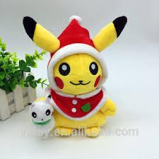 cute santa claus cosplay pikachu plush toys for children snowman