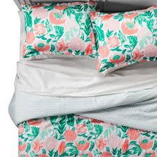 Target Xhilaration Comforter Coral U0026 Emerald Painterly Floral Comforter Set Xhilaration Target