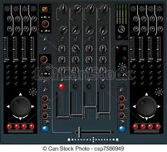Mixing Table Stock Illustration Of Dj Mixer Table Isolated And Grouped Objects