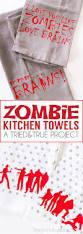 zombie halloween kitchen towels halloween kitchen free