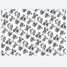 pug wrapping paper ten sheets of dogs wrapping paper by ros shiers