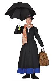 Nanny Halloween Costume Deluxe Mary Poppins English Nanny Victorian Dress Hat