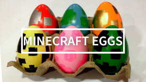 diy easter eggs minecraft edition youtube