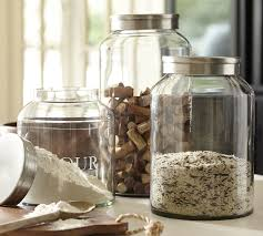 kitchen glass canisters the container store vibe glass canisters kitchen