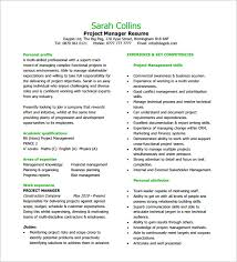 project manager resume template project management professional resume in project manager