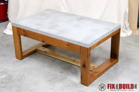 Concrete Coffee Table Diy Concrete Top Outdoor Coffee Table Fixthisbuildthat With Idea