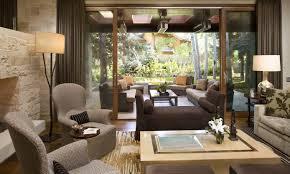 ranch house living interior design minimalist art fireplace