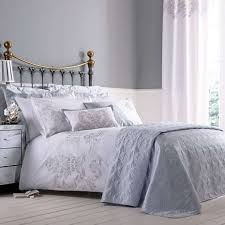 Dunelm Mill Duvet Covers Nina Emboridered Silver Duvet Cover Dunelm